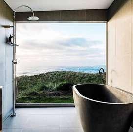 Bathtub Minimalis Kolase Mewah Terrazzo
