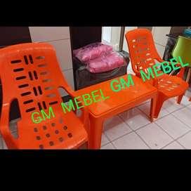 GM MEBEL. 1 Set Kursi Meja Panjang Teras/Taman/Kafe/Cafe/Santai