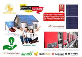 25 KW On-Grid Solar Energy systm. Battery Less Solar System.