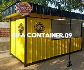 CONTAINER BOOTH, CONTAINER USAHA, CONTAINER COFFEE SHOP, BOOTH LIPAT