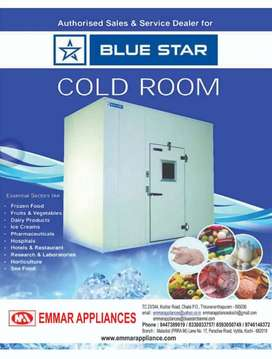 Walk in cold room.