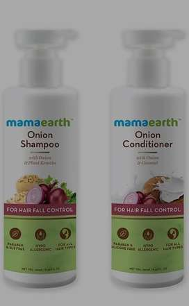 Mamearth shampoo n hairoil
