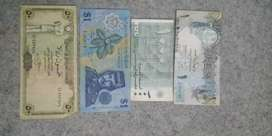 Old different countries currency notes for sale