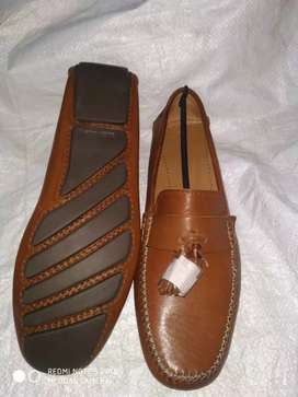 100% genuine leather loafers.