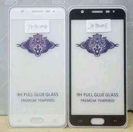 Tempered Glass Full Samsung Galaxy J7 Prime Hitam dan Putih
