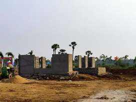 2bhk individual houses east and west facings with guda approved