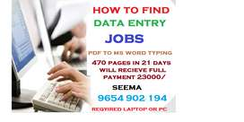 Vacancy for part time data entry jobs