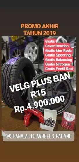 Velg R15 plus Bannya,Sudah Murah,Banyak Bonus nya,Grosir dan Eceran