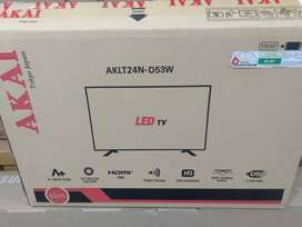 """Akai 24"""" led tv 3year warranty on site Home services full hd hdmi usb"""