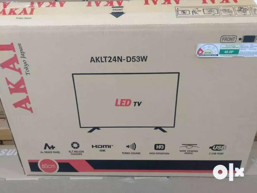 Akai 24 inch led tv 3y warranty on site Home services full hd hdmi usb