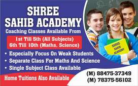 Required teacher for all subjects except math science upto 10 class