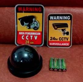 PAKET lengkap CCTV Kamera PALSU Fake CAMERA Security DUMMY