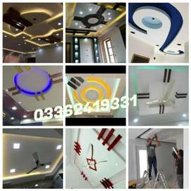 False ceiling wallpaper venyl wood flooring blinds