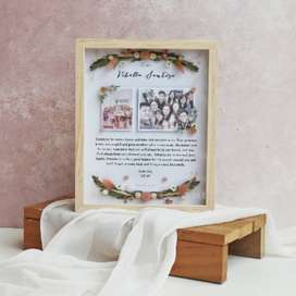 Foto Frame Kayu Hadiah Aesthetic KADO WISUDA   KADO WEDDING   ULTAH