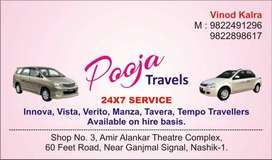 24 hours cars and taxis available on rent for outstation in Nashik