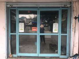 Powder coated glass door 8*8 feet shop studio commercial property