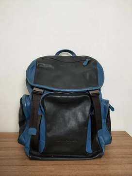 Coach Blue Leather Backpack