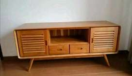 Bufet tv retro pintu2 laci2 p150cm kayu jati
