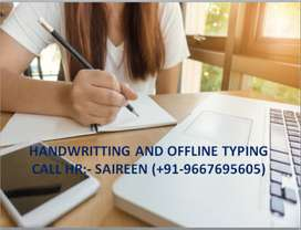 HANDWRITING JOB FROM HOME-PART TIME JOB