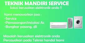 Service Ac, Bongkar pasang Ac, Isi freon Ac, Cuci Ac