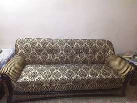 5 seater wooden sofa set with Molty Foam seats available