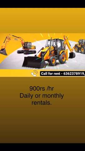 Jcb for rent. 900rs per hour