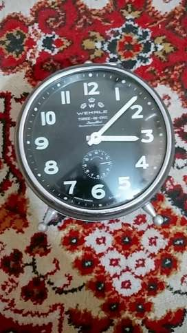 antique Wehrle table clock made in Germany(working condition)