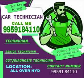 CAR MECHANIC / TECHNITION JOBS AVAILABLE FREE JOINING