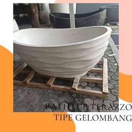 Bathtub Murah Bathtub Standing Terazzo unik Tipe Perahu P120cm