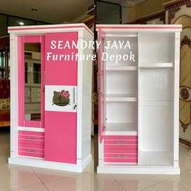 SEANDRY JAYA Furniture Depok/Lemari pakaian minimalis sliding 2 pintu
