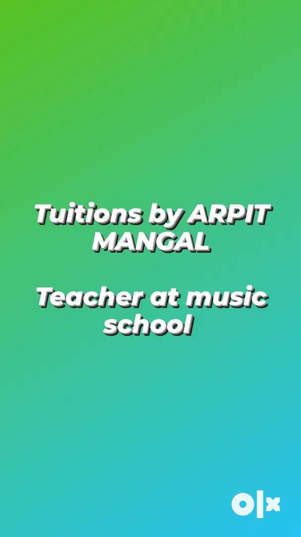 Guitar and vocal tuitions.