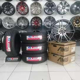Promo Paket Ban GT Radial Velg AMW Rocky  R17 bisa untuk Livina Avanza