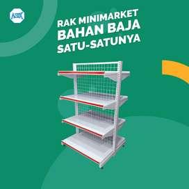 Perlengkapan minimarket - rak toko dan meja kasir lipat