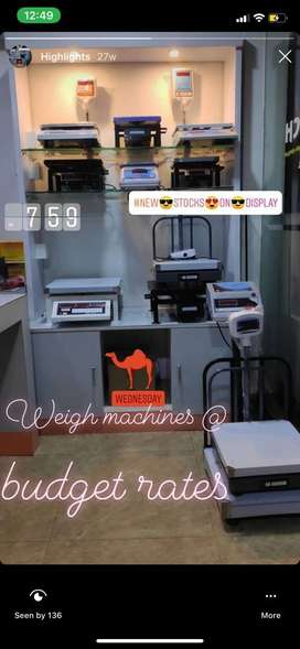 All kinds of Weighing Machine at budget rates