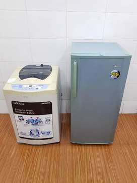 '',Samsung single door fridge & Samsung top load washing machine