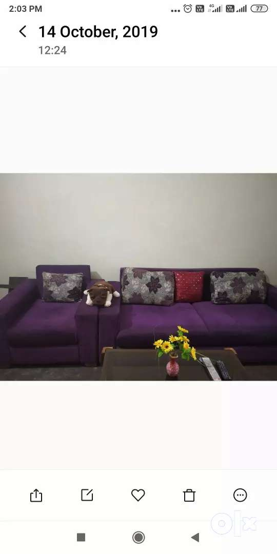 Sofa without tea table 0