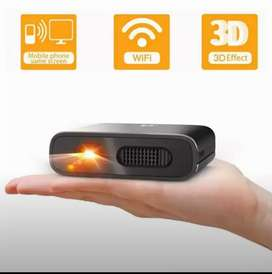 Portable 3D projector   screen mirroring    battery operated