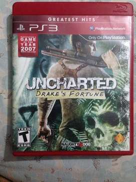 Uncharted ps3 game in new condition