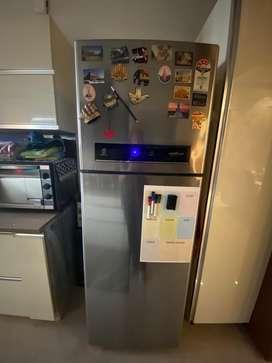 1.5 year old Whirlpool 360 liters double door fridge