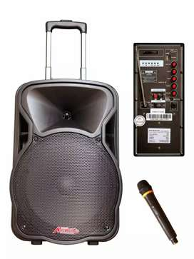 Proton  Rechargeable Powered Trolley Speaker P.A. System (l