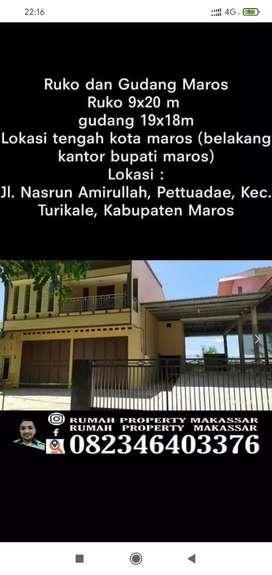 Ruko &Gudang Maros Jl Nasrun Amrullah Ruko 2 Lti 9X20 Gudang 19X18