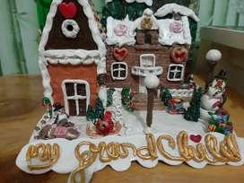 Miniature Rumah Candy cake