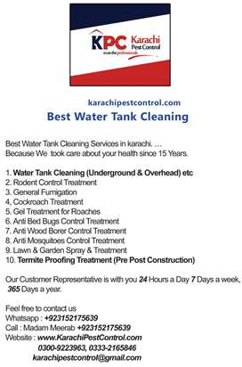 Pest Control Bedbug Cockroach Termite Fumigation & Water Tank Cleaning