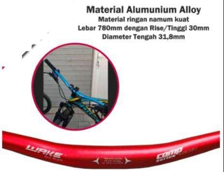 Handlebar Stang Sepeda Wake Riser AL6061 Alloy Oversize