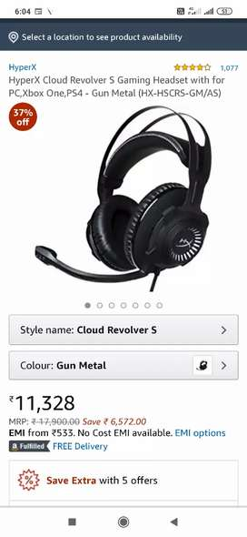 Gaming headphones HYPERX