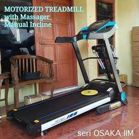 Jual alat fitness murah treadmill Osaka auto incline bergaransi
