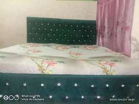2 double beds with matress sofas table set urgently sale