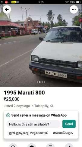 Maruti Suzuki 800 1999 (rs22000)