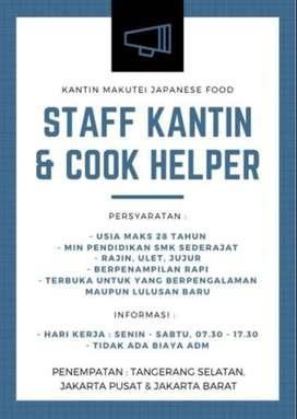Loker Waiters & Cook Helper Japanese Food