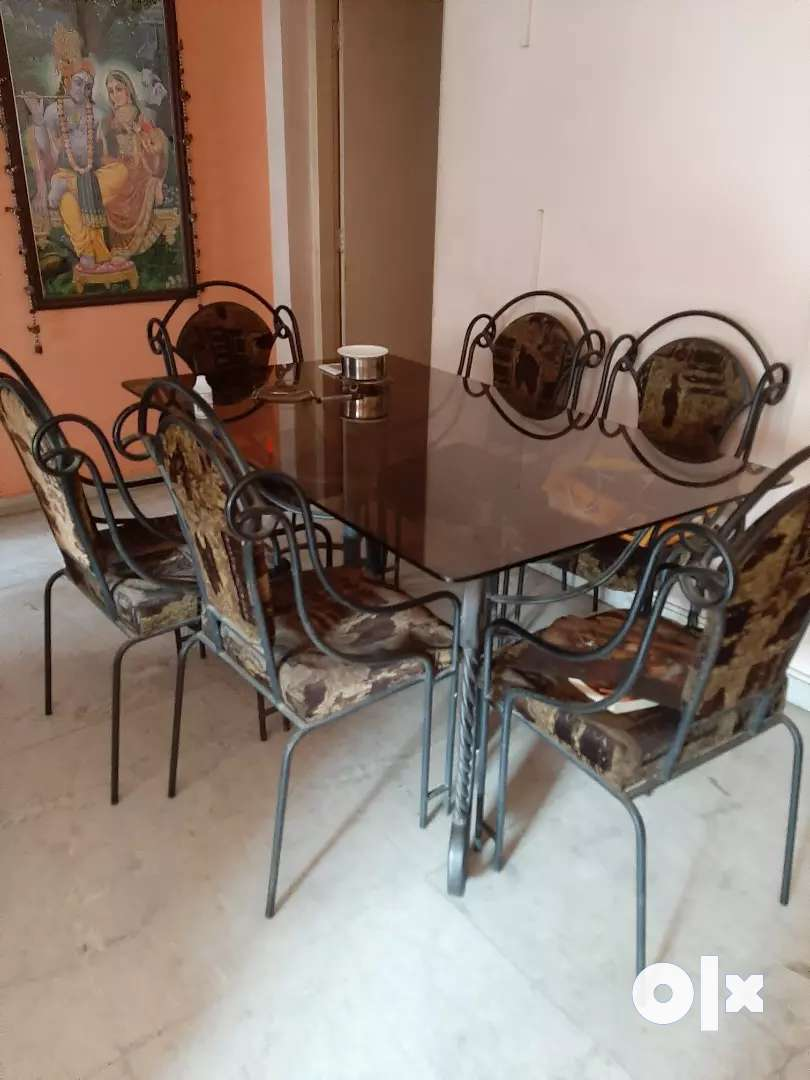 6 seater wrought iron dining table for sale 0